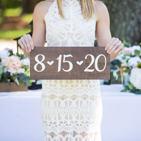 Wedding Date Sign - Wedding Decor Gifts
