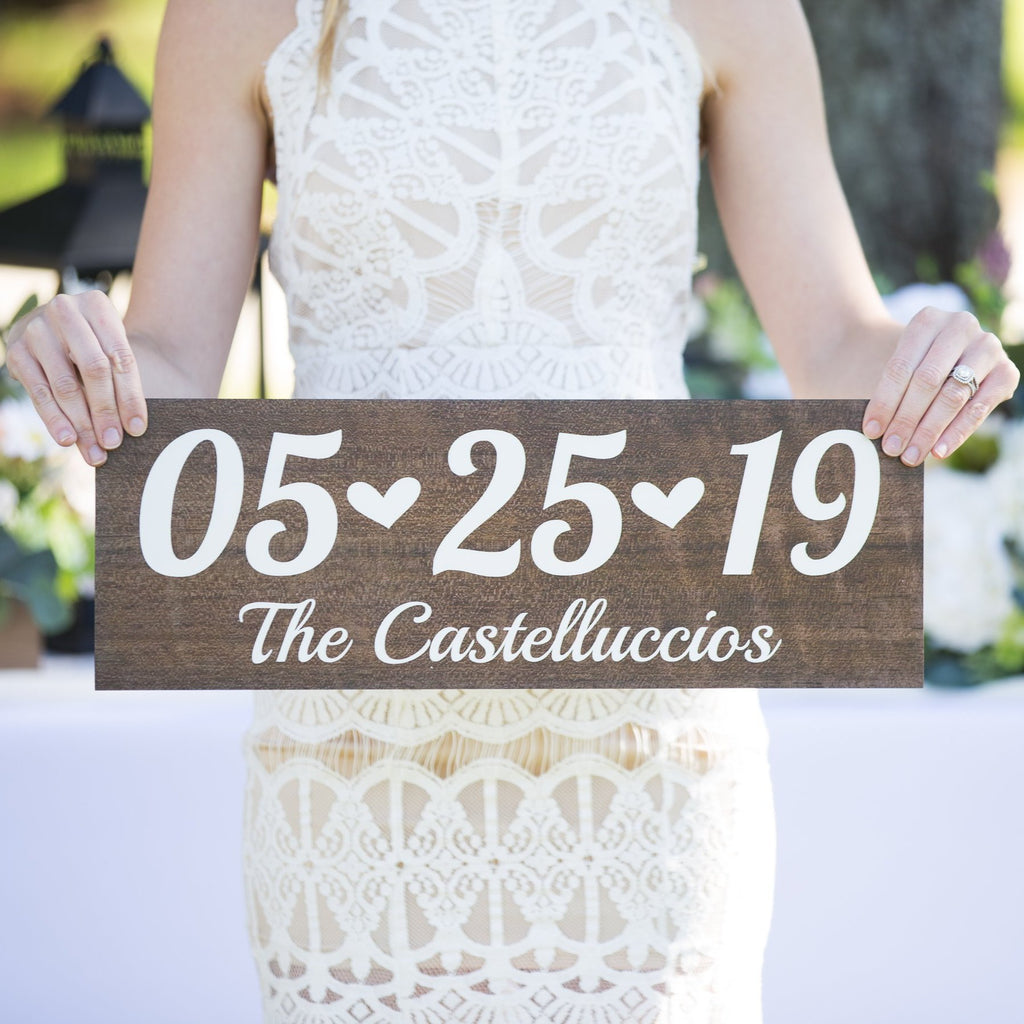 Personalized Wedding Date Sign - Wedding Decor Gifts