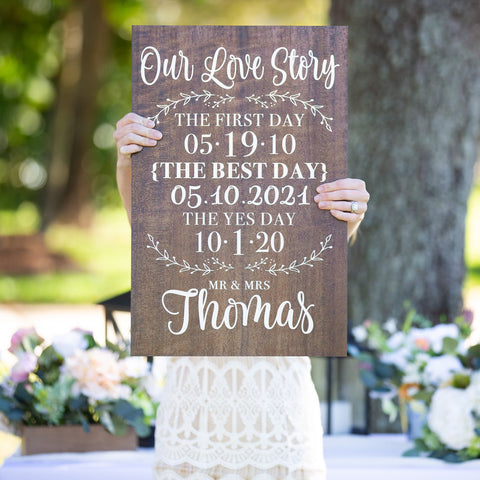 Our Love Story Wedding Sign - Wedding Decor Gifts
