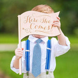 """Here She Comes"" Ringer Bearer Sign - Wedding Decor Gifts"