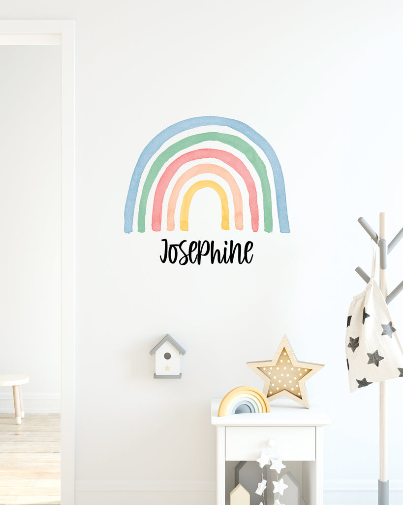 Rainbow Name Decal for Nursery/ Bedroom Kids or Baby Decor - Wedding Decor Gifts