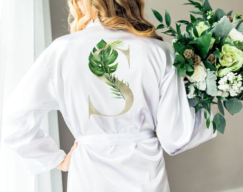 Tropical Wedding Robes for Bride & Bridesmaids