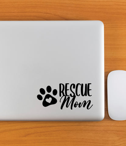 Rescue Decal for Car Window or Anywhere, Dog Mom Bumper Sticker Custom Sticker Car Decal for Rescue Pets