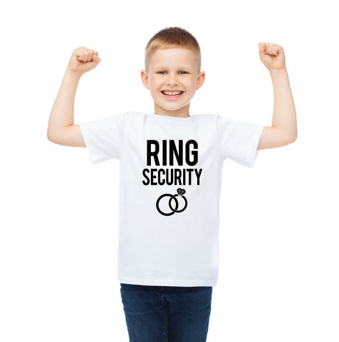 Ring Security Shirt for Wedding Ring Bearers - Wedding Decor Gifts