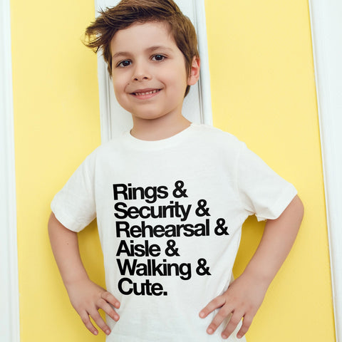 Ring Bearer Shirt for Wedding Ring Bearers