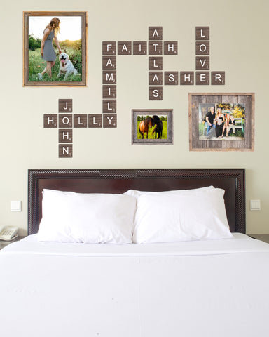 Scrabble Tiles for Wall, Choose Your Size, Scrabble Wall Letters, Custom Home Decor for Wall, Family Decorations Letters & Names