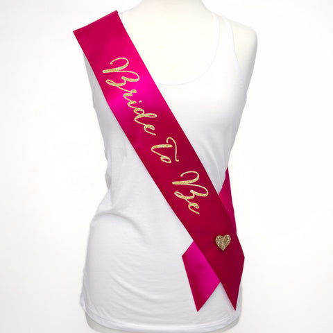 Bride Sash for Bride to Be at Bridal Shower or Wedding - Wedding Decor Gifts