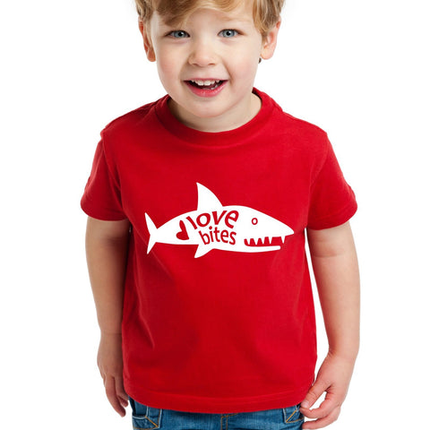 Shark Valentine's Day Shirt for Kids or Toddlers