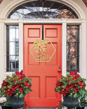 Christmas Door Sign, Metal Family Monogram Sign for Front Door, Holiday Name Sign, Outdoor Sign for House, Address Sign Family Gift