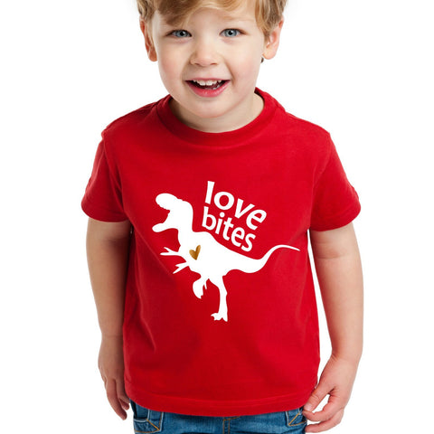 T-Rex Dinosaur Valentine's Day Shirt for Kids or Toddlers
