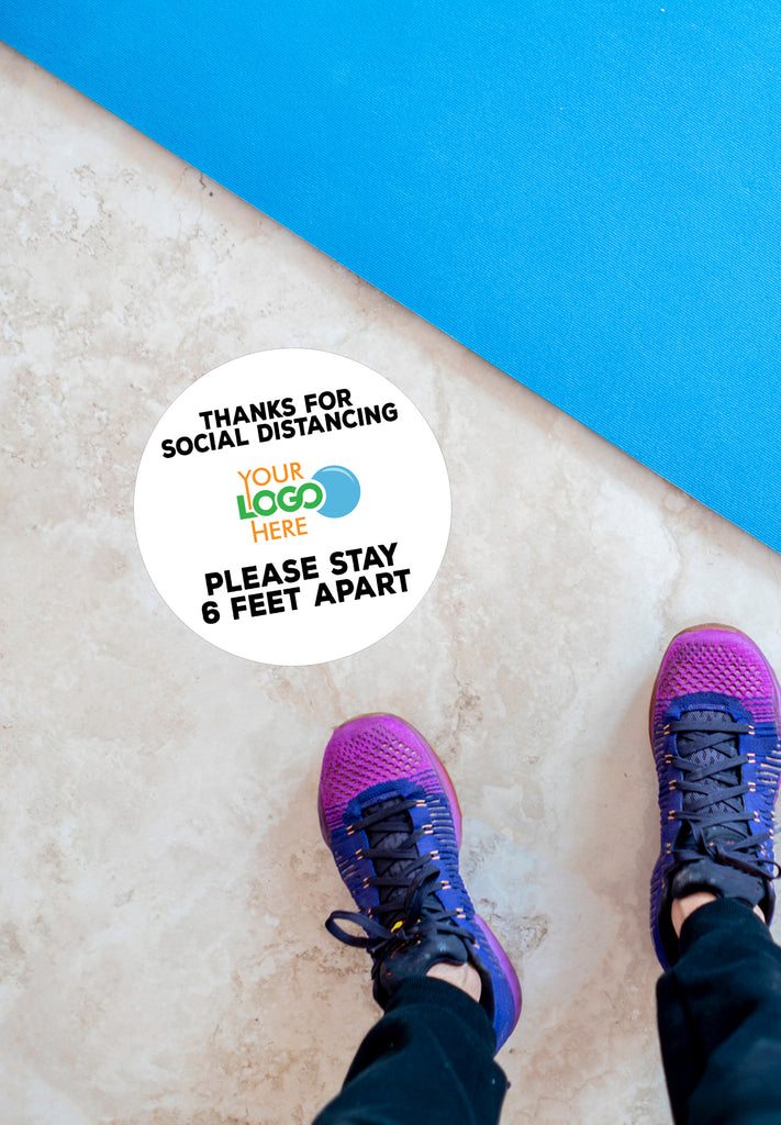 Floor Stickers for Social Distancing, 6 Feet Apart Stickers