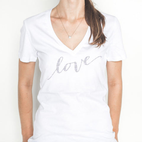 "Glitter ""love"" Shirt - Wedding Decor Gifts"