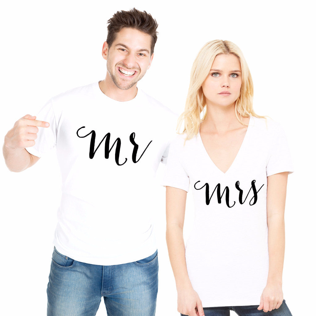 Mr & Mrs Shirts for Couples - Wedding Decor Gifts