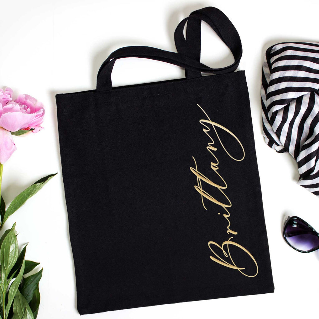 Simple Black Bridesmaid Bags - Wedding Decor Gifts