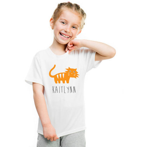 Personalized Kids Shirts with Animal Choice