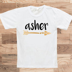 Personalized Boho Arrow Kids T-Shirt