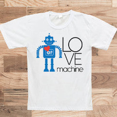 """Love Machine"" Valentine's Day Shirt for Kids - Wedding Decor Gifts"