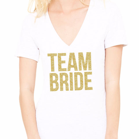 """Team Bride"" Bridal Party T-Shirts - Wedding Decor Gifts"