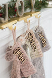 Christmas Stockings Name Cutout - Wedding Decor Gifts