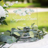 Signature Drinks Wedding Sign - Wedding Decor Gifts