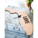 Wooden State Cutout Guestbook - Wedding Decor Gifts