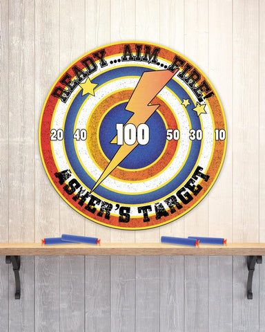 Kids Personalized Target Toy Circle Decor Room Sign