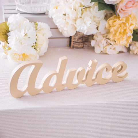 """Advice"" Table Sign for Wedding - Wedding Decor Gifts"