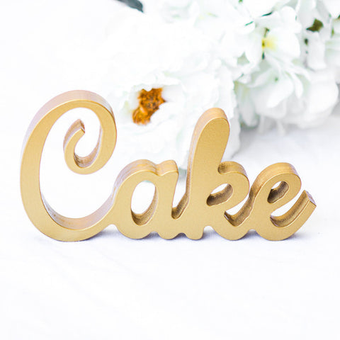 """Cake"" Sign for Wedding - Wedding Decor Gifts"