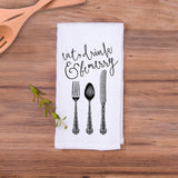 "Tea Towel ""Eat Drink & Be Merry"" - Wedding Decor Gifts"