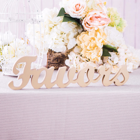 Favors Sign - Wedding Decor Gifts