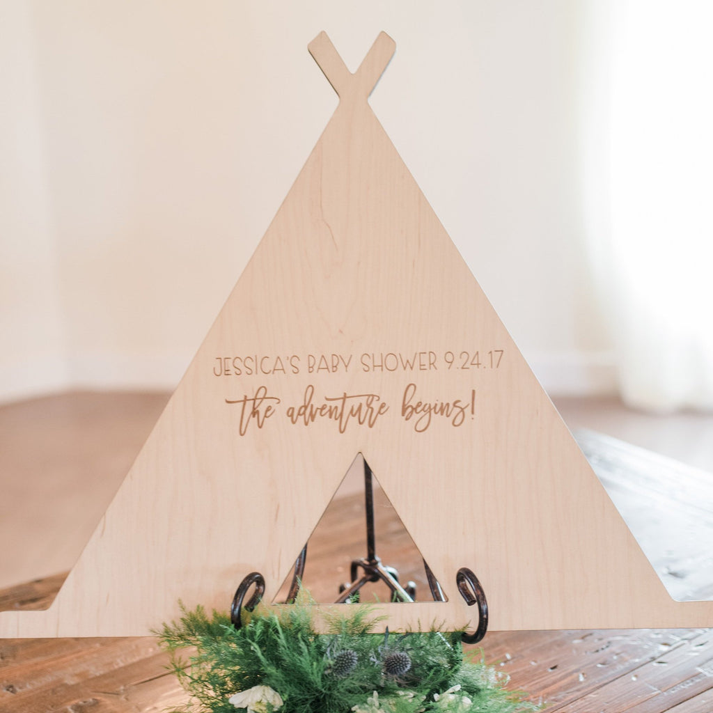Teepee Guestbook for Baby Shower