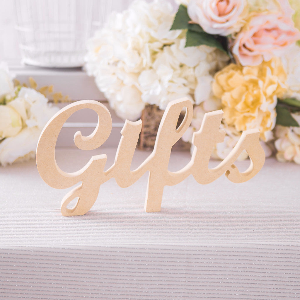 Gifts Table Sign - Wedding and Gifts