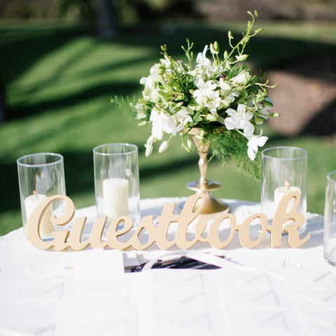 Guestbook Sign for Wedding Table - Wedding Decor Gifts
