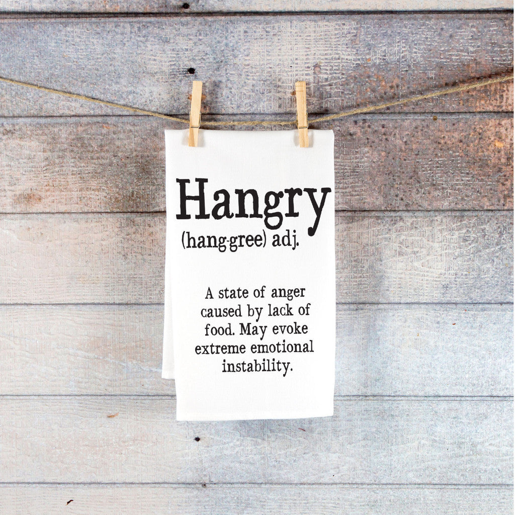 Hangry Kitchen Tea Towel - Wedding Decor Gifts