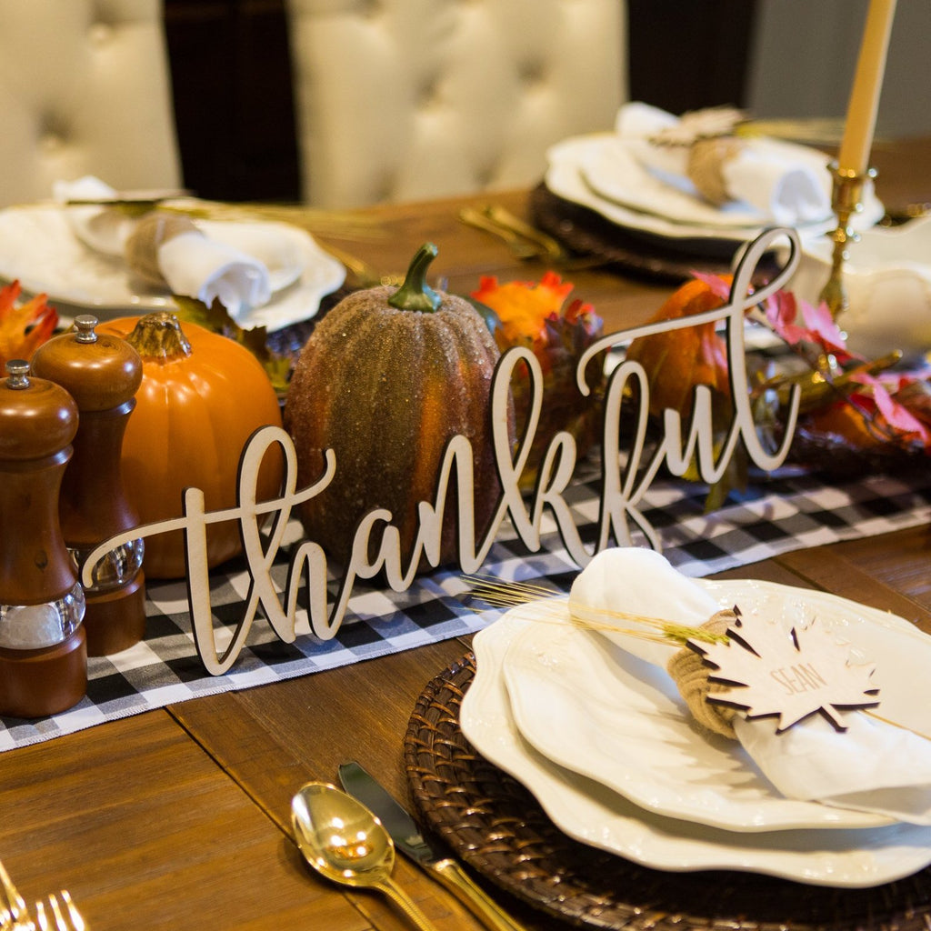 Thankful Table Sign - Wedding Decor Gifts