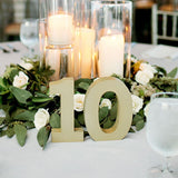 Thick Wedding Table Numbers