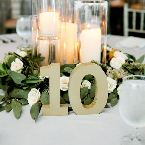 Thick Wedding Table Numbers - Wedding Decor Gifts