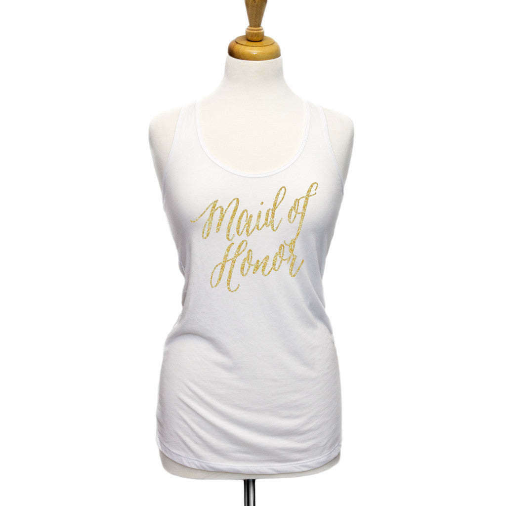 """Maid of Honor"" Gift Tank Top - Wedding Decor Gifts"