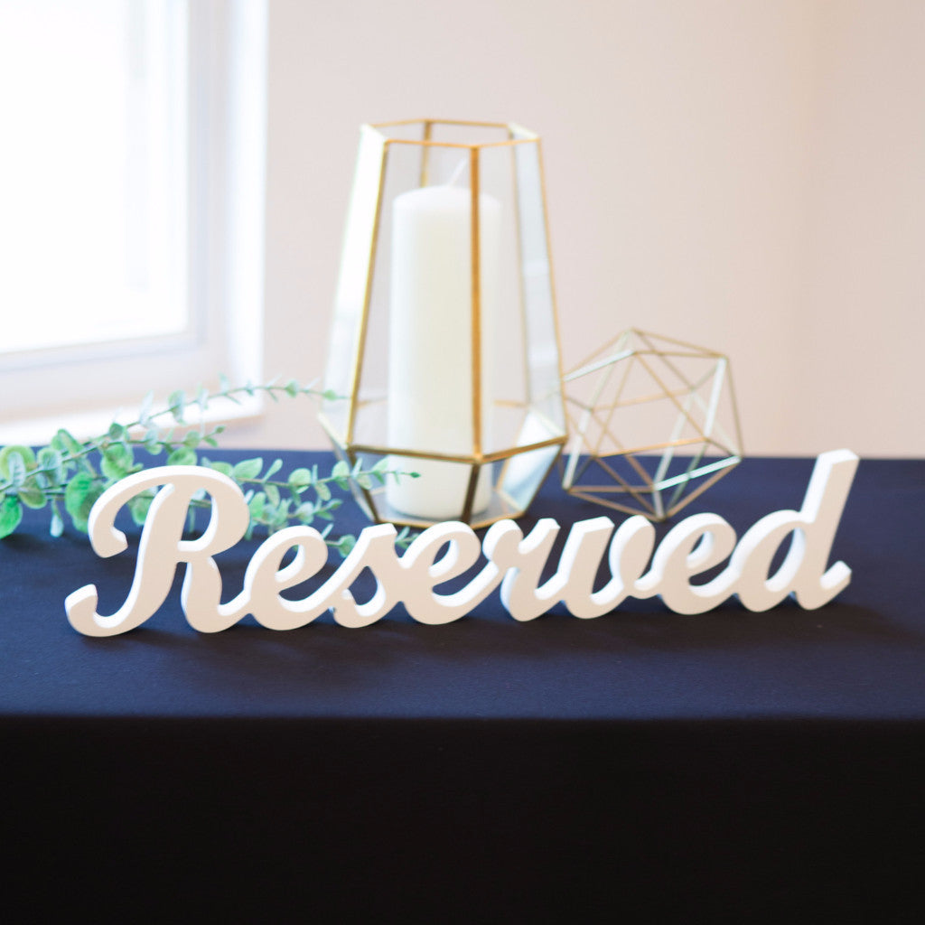 """Reserved"" Sign for Wedding - Wedding Decor Gifts"