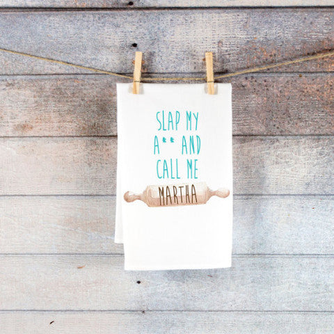 "Funny Kitchen Towel ""Slap My A**..."" - Wedding Decor Gifts"