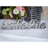 """Take One"" Wedding Sign - Wedding Decor Gifts"