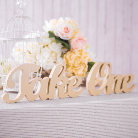 """Take One"" Wedding Sign - Wedding and Gifts"