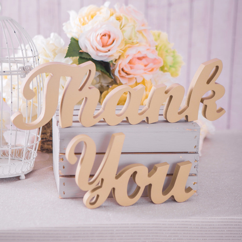 """Thank You"" Wedding Sign - Wedding Decor Gifts"