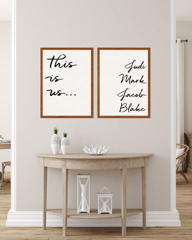 Custom This is Us Artwork, Quotes Prints for Wall - Wedding Decor Gifts