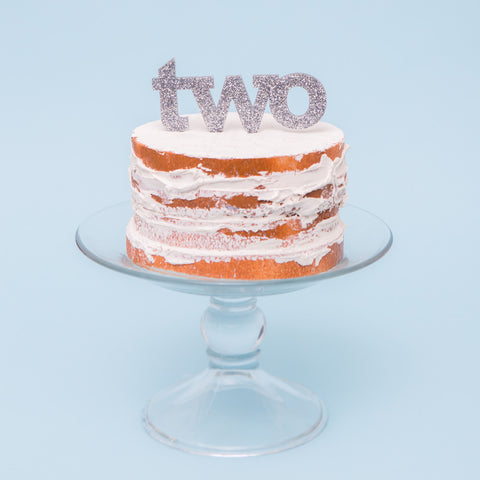 """Two"" Cake Topper for Second Birthday - Wedding Decor Gifts"
