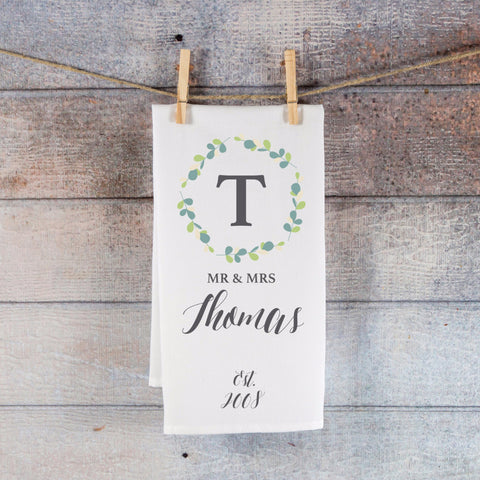Kitchen Towel with Personalized Name - Wedding Decor Gifts