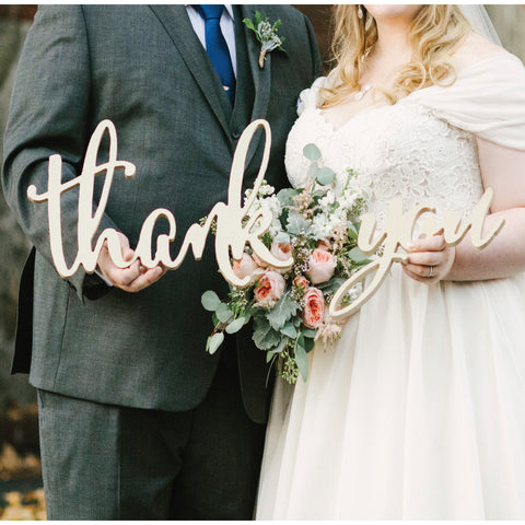 Thank you sign for wedding photo prop thank you cards z create design calligraphy style thank you sign for wedding wedding decor gifts junglespirit Image collections