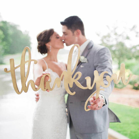 Calligraphic Thank You Sign - Wedding Decor Gifts