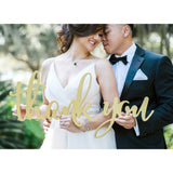 Calligraphy Style Thank You Sign for Wedding