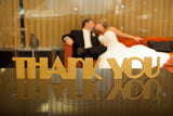Art Deco Thank You Wedding Signs - Wedding Decor Gifts